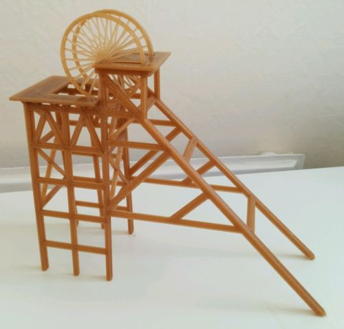 Colliery Pit Headstock Model frontside-view